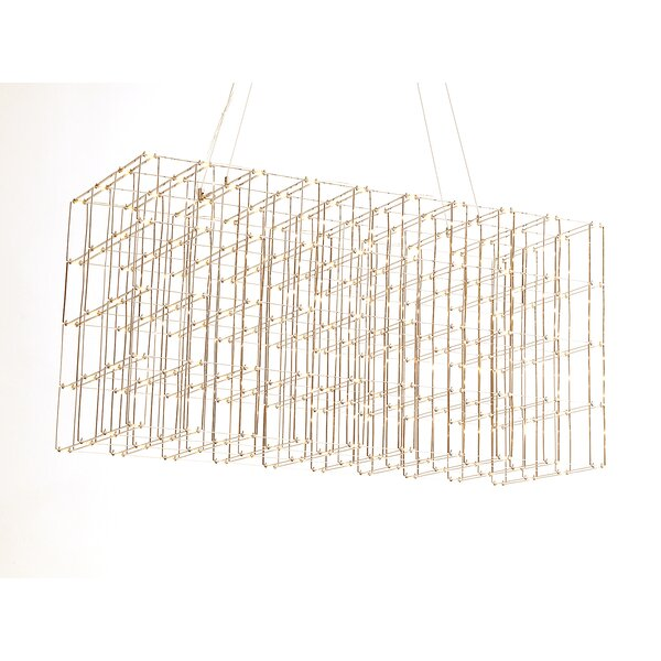 Mukilteo 200 - Light Unique Rectangle LED Chandelier By Everly Quinn
