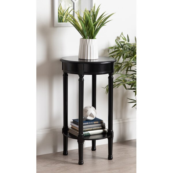 Orton Round Top Wood End Table By Canora Grey