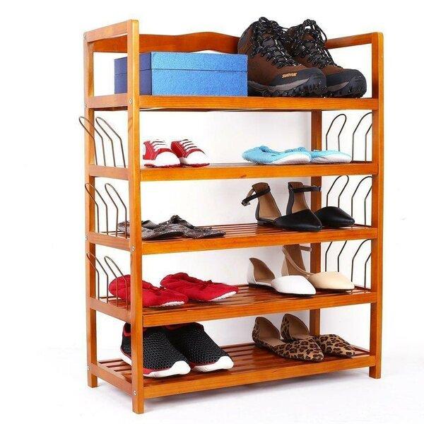 Wooden 21 Pair Shoe Rack
