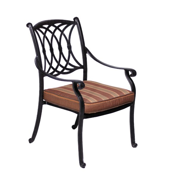 Islais Stacking Patio Dining Chair with Cushion (Set of 2) by Darby Home Co