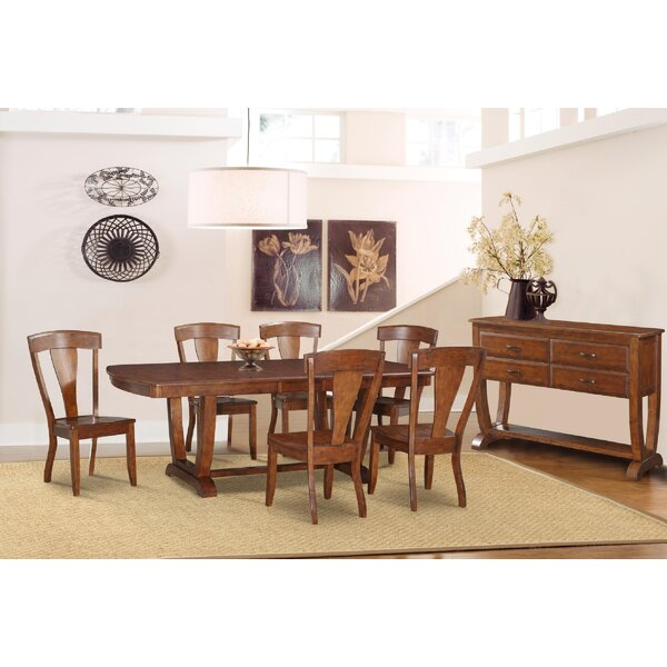 Bracamonte 8 Piece Solid Wood Dining Set by Canora Grey