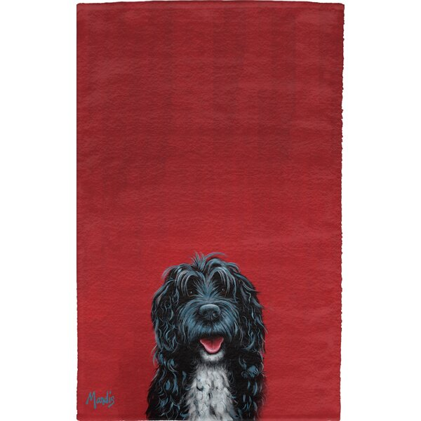 Portuguese Water Dog Full Face Hand Towel (Set of 2) by East Urban Home