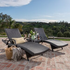 Peyton 3 Piece Chaise Lounge Set