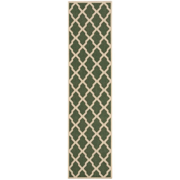 Cashion Green/Cream Area Rug by Longshore Tides