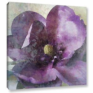 Purple Spring Floral Rhapsody Painting Print on Wrapped Canvas by Alcott Hill
