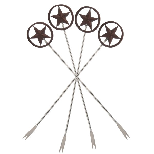 Brandi Star Bronze Specialty Fork (Set of 4) by August Grove