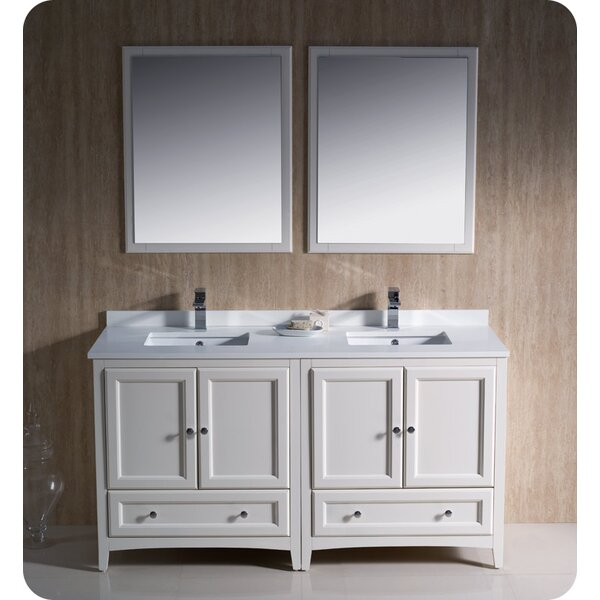 Oxford 60 Double Bathroom Vanity Set with Mirrors by Fresca