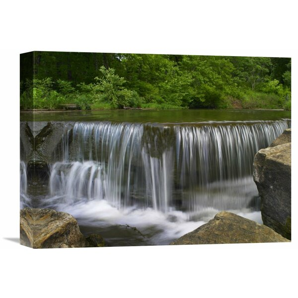 Nature Photographs Sand Creek Cascades in Osage Hills State Park, Oklahoma by Tim Fitzharris Photographic Print on Wrapped Canvas by Global Gallery