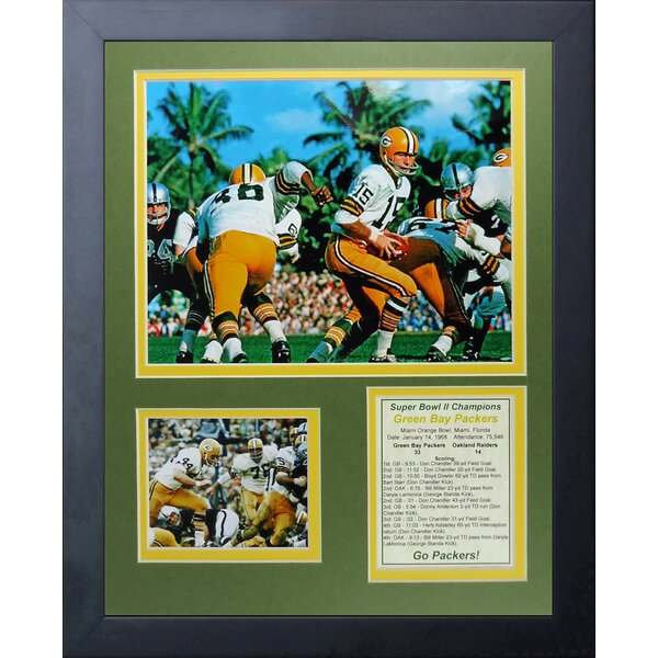 Green Bay Packers - 1967 Super Bowl II Framed Memorabilia by Legends Never Die