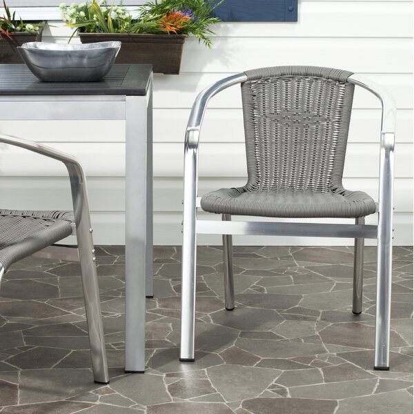 Correa Stacking Patio Dining Chair (Set of 2) by Mercury Row