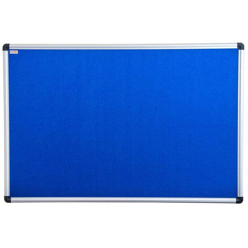 Viztex Fabric Wall Mounted Bulletin Board