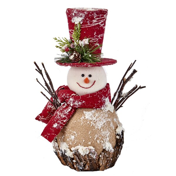 Styrofoam Iced Burlap Snowman by The Holiday Aisle