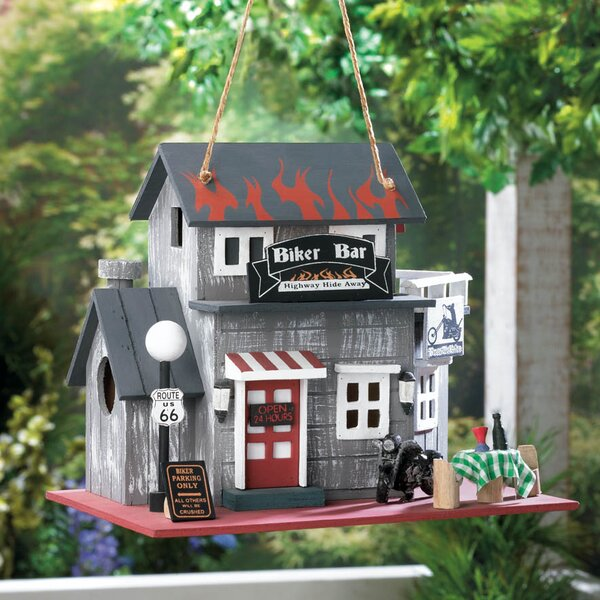 Biker Bar 9 in x 10.5 in x 7.5 in Birdhouse by Zingz & Thingz