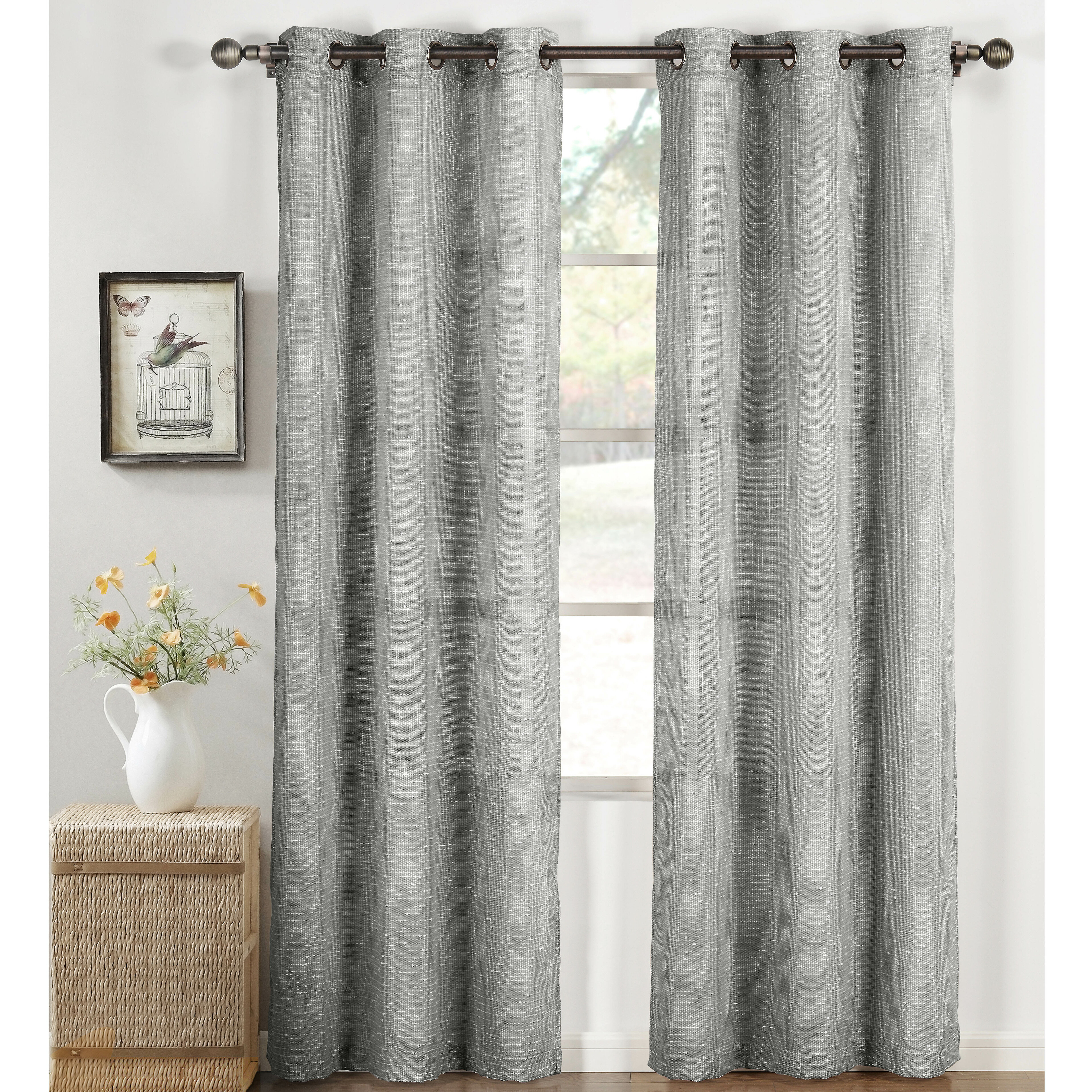 vcny over overstock on stripe product orders linen shipping garden windsor home curtains free pair curtain sheer panel gray