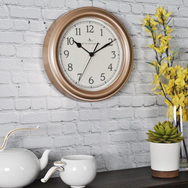 Lehigh 8.5 Essential Wall Clock by Alcott Hill