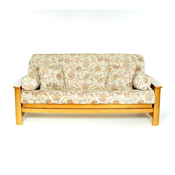 Lacey Box Cushion Futon Slipcover by Lifestyle Covers
