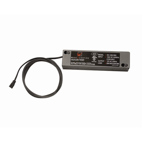 Class 2 Remote 60W 24V Electronic Transformer by WAC Lighting