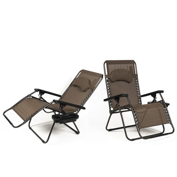 Adriana Reclining Zero Gravity Chair with Cushion by Freeport Park Freeport Park