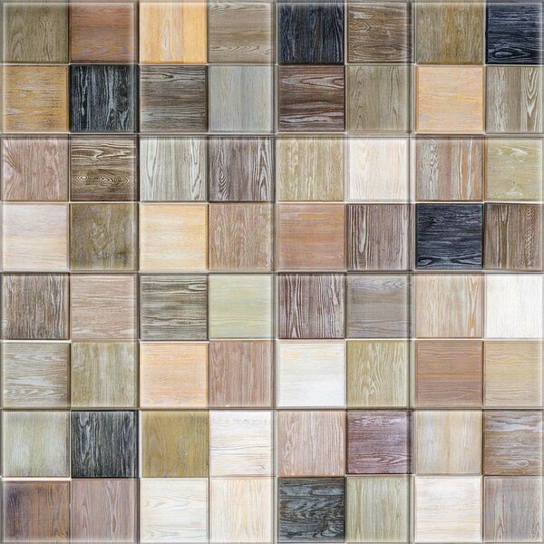 2 x 2 Glass Decorative Mural Tile in Brown/Black by Upscale Designs by EMA