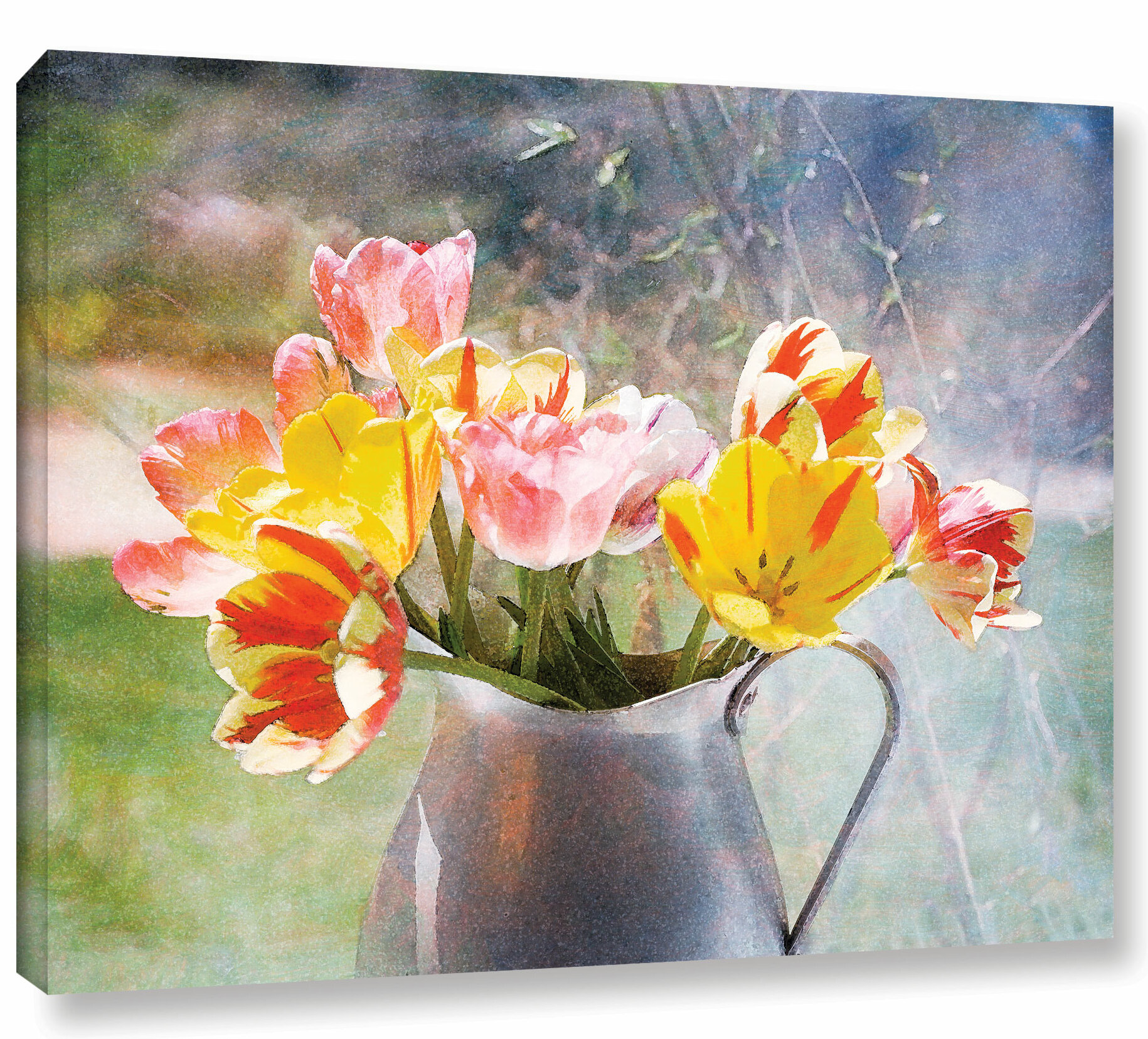 August Grove Rembrandt Tulips Graphic Art On Wrapped Canvas Wayfair