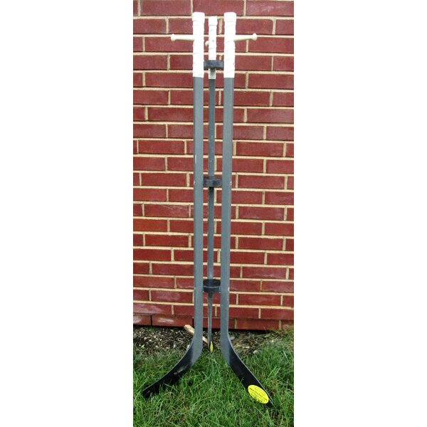 Hockey Stick Free Standing Coat Rack by Ski Chair