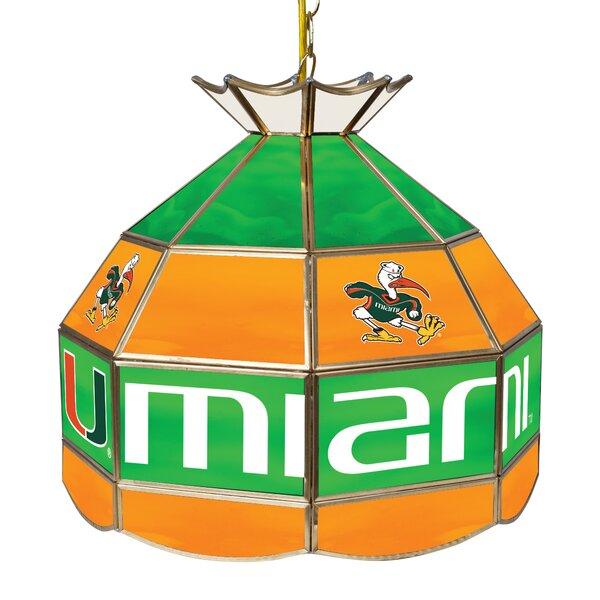 University of Miami 1-Light Pool Table Lights Pendant by Trademark Global