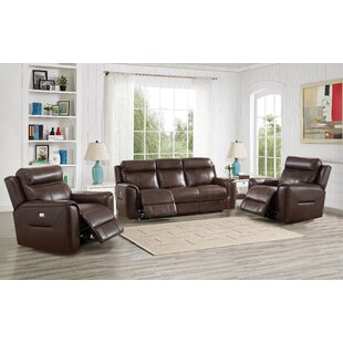 Efren Genuine Leather Reclining Living Room Set by Red Barrel Studio®