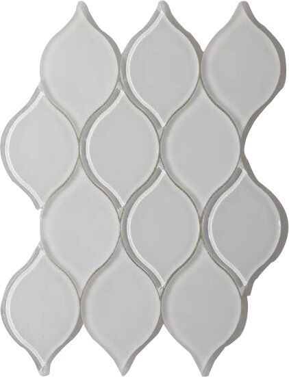 Tear Drop Frosted Wall 11 x 12 Glass Mosaic Tile