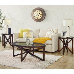 Great Price Luebbert 3 Piece Coffee Table Set ByWrought Studio
