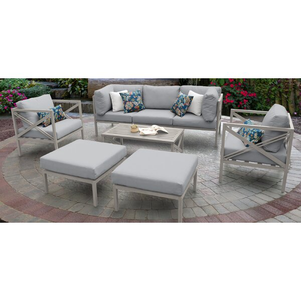 Carlisle 8 Piece Sofa Seating Group with Cushions by TK Classics