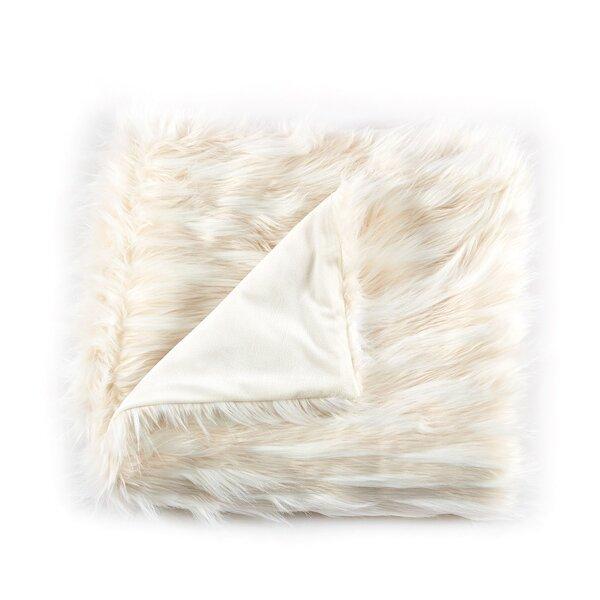 Selleck Jacquard Eyelash Faux Fur Throw by Mercer41