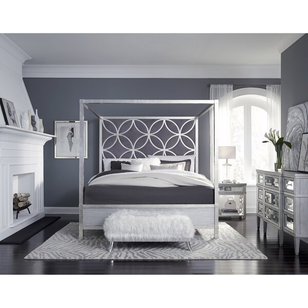 Adelina King Upholstered Canopy Headboard by Mercer41