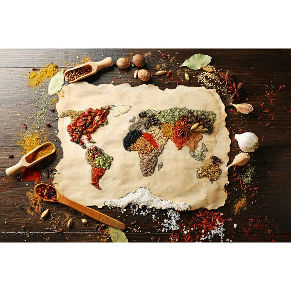 Spice Map Foam Placemat (Set of 4) by East Urban Home