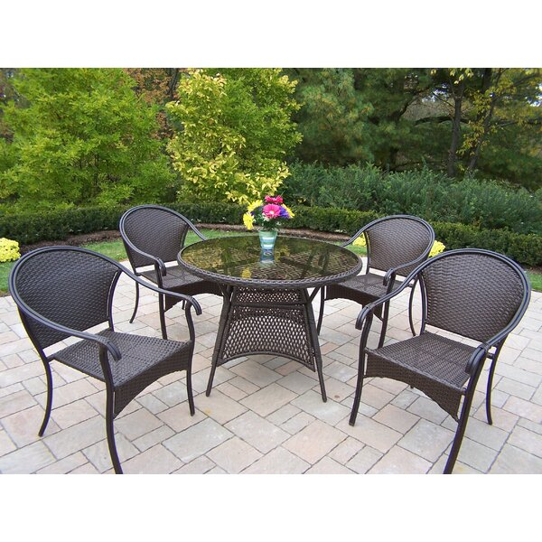 Tuscany 5 Piece Dining Set by Oakland Living