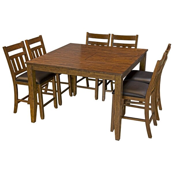 Osborne 7 Piece Solid Wood Dining Set by Loon Peak