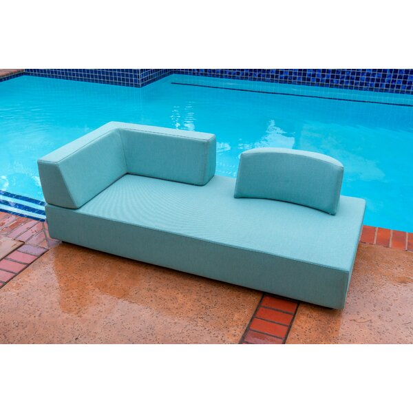 Merkley Outdoor Chaise Lounge with Cushion