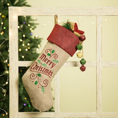 Christmas Linen Stocking
