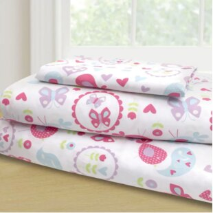 Affordable Mervin 3 Piece Garden Party Sheet Set By Harriet Bee