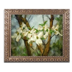'Painted Dogwood' by Lois Bryan Framed Painting Print by Trademark Fine Art