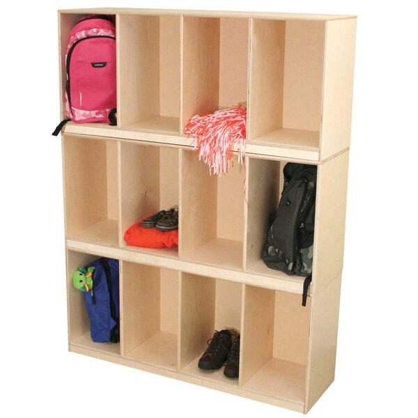 3 Tier 4 Wide Home Locker by Wood Designs