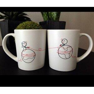 You're Worth Every Mile Couple Coffee Mug (Set of 2)