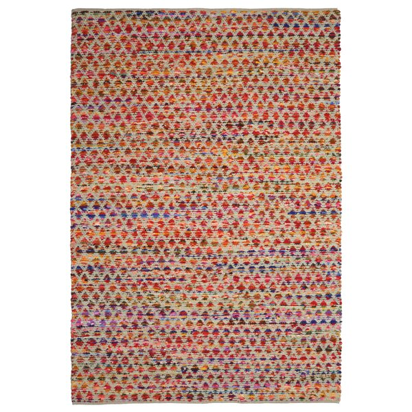 Complex Hand-Loomed Red/Orange Area Rug by St. Croix