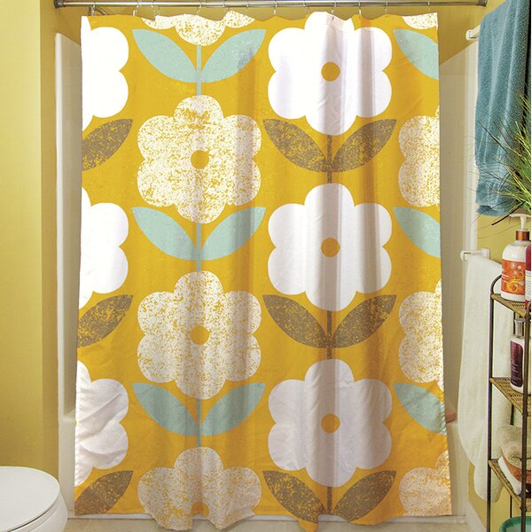 Jar of Sunshine Vintage Blossoms Shower Curtain by Manual Woodworkers & Weavers