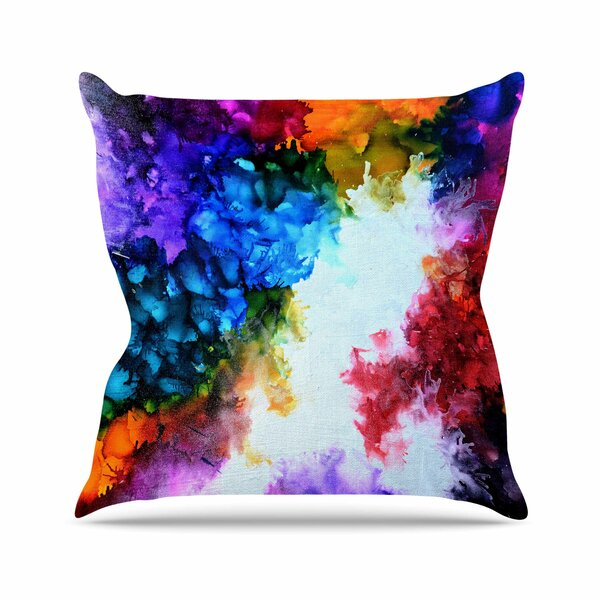 Claire Day Fiona Painting Outdoor Throw Pillow by East Urban Home
