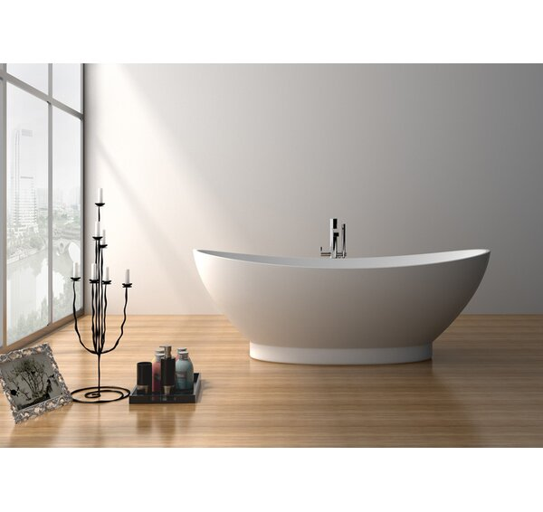 70.5 x 34.5 Freestanding Soaking Bathtub by Legion Furniture