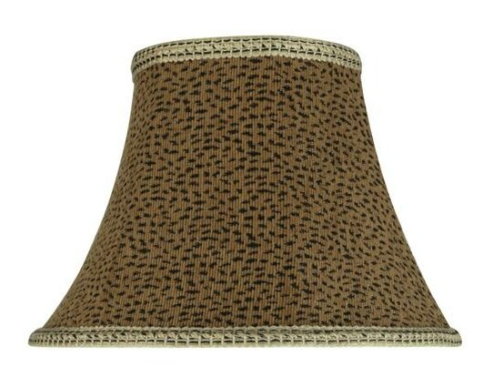 9.5 H Jacquard Textured Fabric Bell Lamp Shade ( Spider ) in Brown/Black