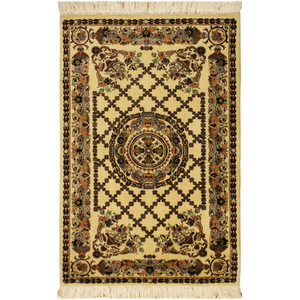 One-of-a-Kind Aaru Hand-Knotted Wool Ivory Area Rug by Isabelline