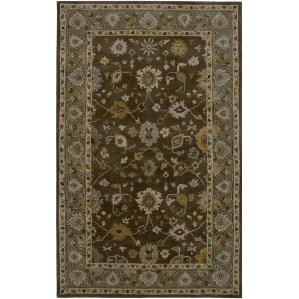 Lagos Hand-Tufted Brown/Green Area Rug by Meridian Rugmakers