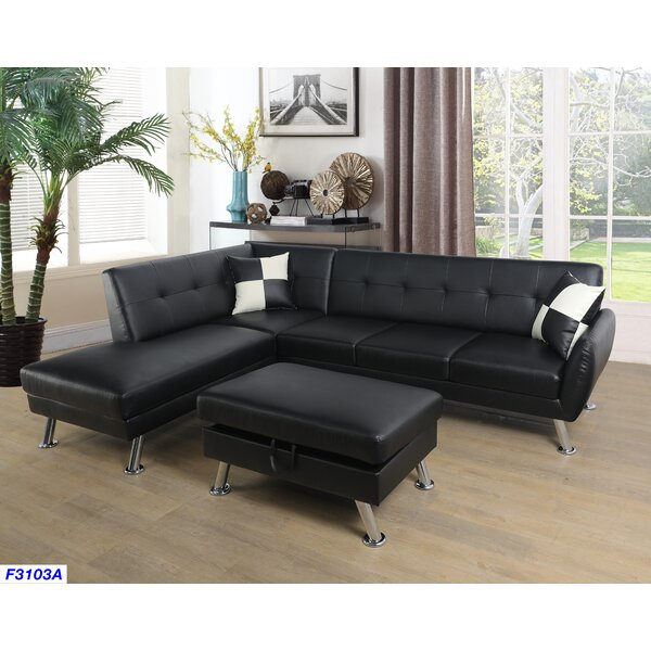 Warrior Sectional with Ottoman by Latitude Run