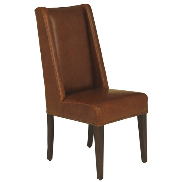 Rickie Genuine Leather Upholstered Dining Chair By Red Barrel Studio